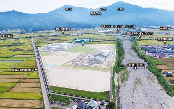 空から見た工業団地
